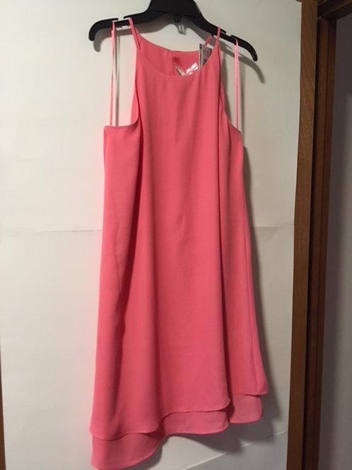 Juniors Size XL Ruby Peach Spaghetti Strap Dress