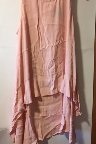 Womens Size 3X Pink Long Tail Sleeveless Tunic Top