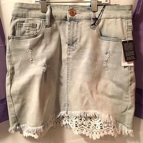 Juniors Size 3 Light Blue Jean Skirt
