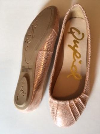 Ladies Qupid Pink Flat Shoes