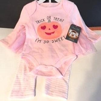 Baby Girl Rene Rofe Size Medium 3 - 6 Months Halloween TuTu Set