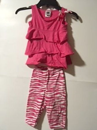 Toddler Girls Size 2T Used Capri Set