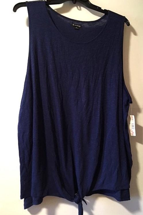 Womens Size 2X Navy Sleeveless Top