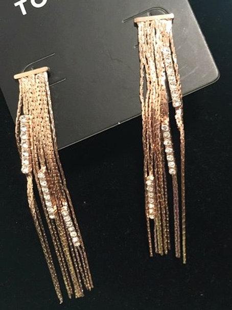 Ladies Rose Gold DanglingPierced Earrings