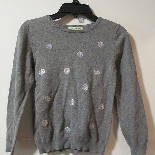 Girls Gray Copper Key Sequined Top