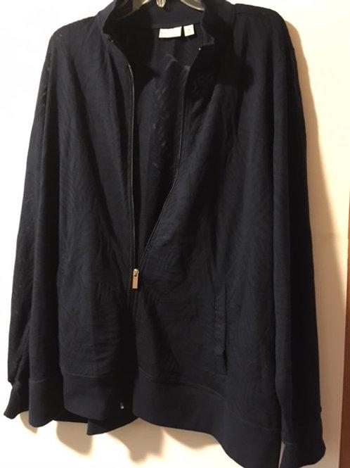 Womens Size 3X Zipper Jacket
