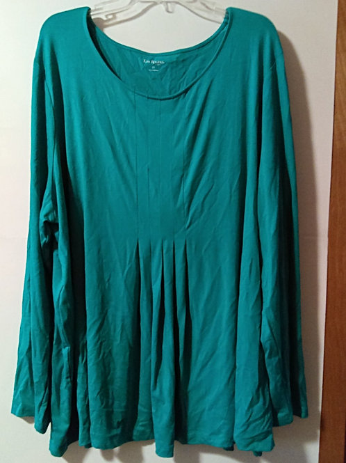 Womens Size 2X Aqua Green Long Sleeve Top