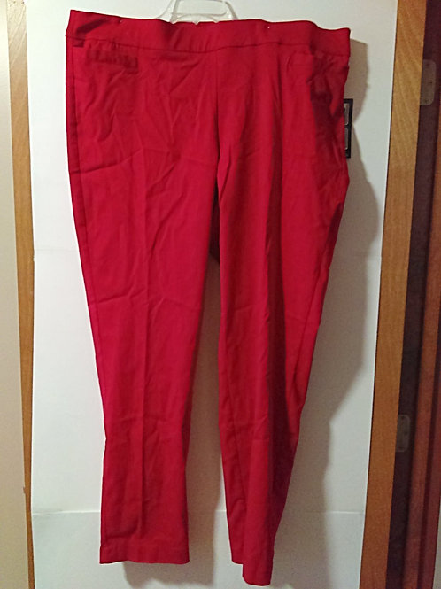 Womens Size 20W Avg Red Pants