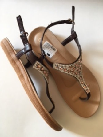 Ladies Size 11 Brown Sandal