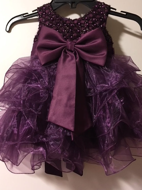 Baby Girls Size 0 - 6 Month Royal Purple Pageant Dress