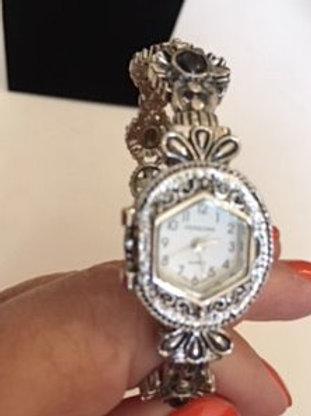 Ladies Silver Bangle Watch