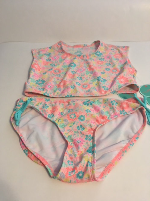 Girls Size 12 / 14 Pastel Two Piece Swimsuit