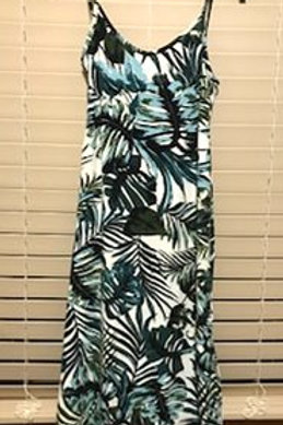 GIRLS SIZE LARGE 14 TROPICAL PLANT DESIGN DRESS BY ANGIE GIRLS