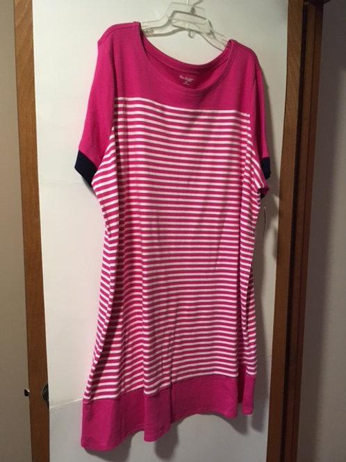 Womens Size 3X Fiery Pink Casual Dress