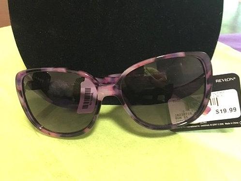 Ladies Purple Marbled Frame Sunglasses