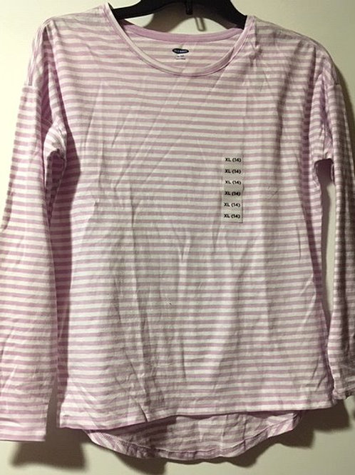 Girls Size XL 14 Old Navy Purple Long Sleeve Top