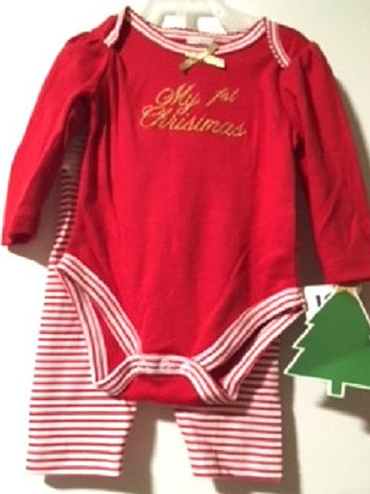 Baby Girls Little Beginnings Two Piece Red Christmas TuTu Outfit