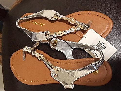 Ladies Silver Sandals