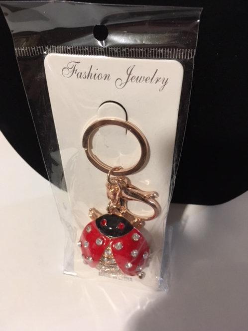 Ladies Ladybug Keychain