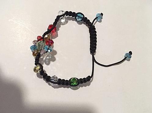 Ladies Multi Color Beaded Adjustable Bracelet