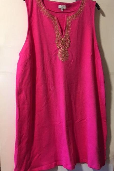 Womens Size 3X Sleeveless Pink A-Line Dress