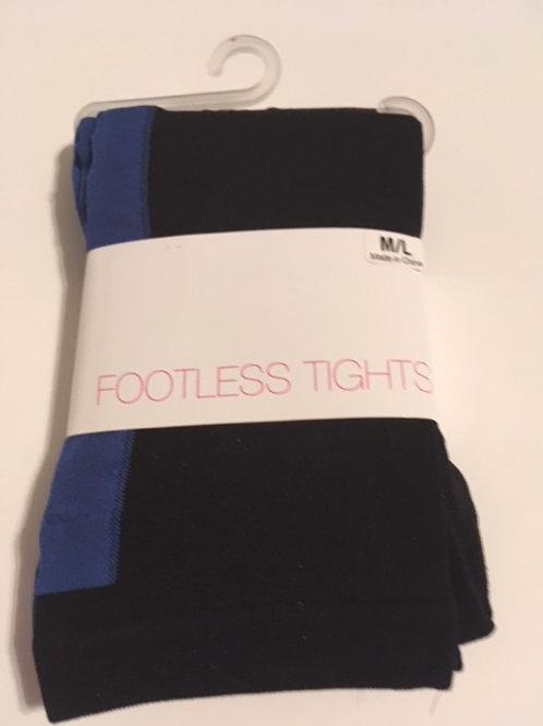 Ladies M/L Black Footless Tights