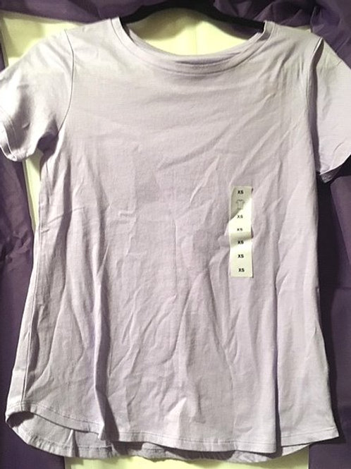 Juniors Size X-Small Lavendar Short Sleeve Top