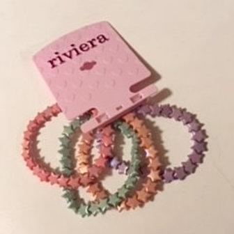 Girls Stretch Star Bracelets