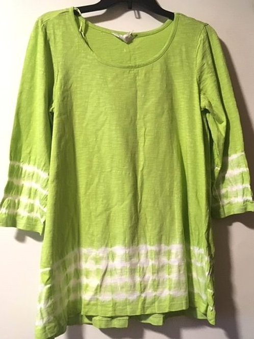 Ladies Size Small Lime Green 3/4 Sleeve Top