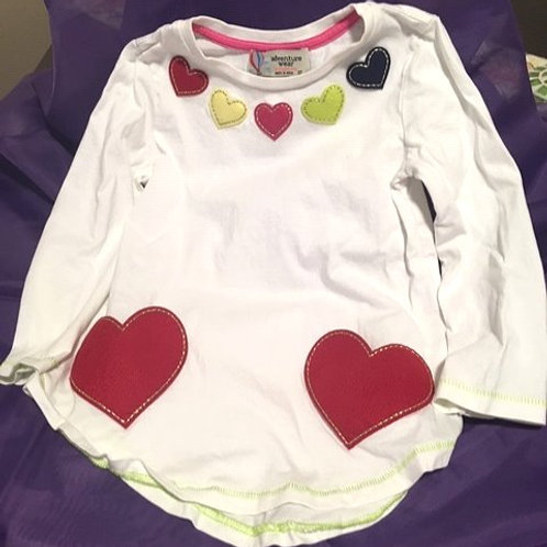 Toddler Girls Size 3T Used Long Sleeve Top