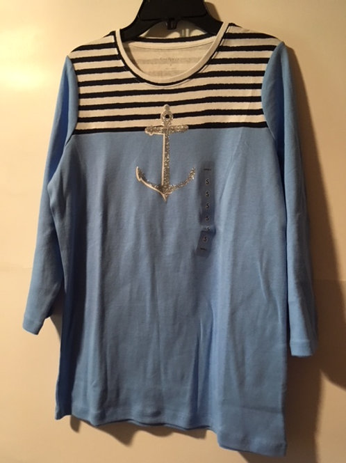 Ladies Size Small Blue Top