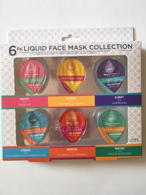 Face Mask 6 Pk Liquid Collection