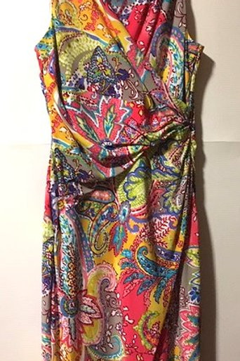 Ladies Size 6 Multiple Color Sleeveless Dress