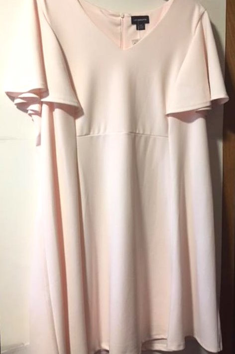Womens Size 24W Pale Pink Dress