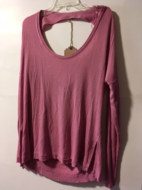 Juniors Size XL Dusty Pink Long Sleeve Top