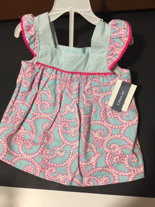 Baby Girl Size 18 Month Two Piece Outfit