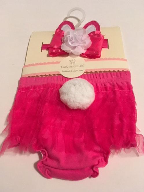 Baby Hot Pink Headband & Diaper Photo Set Baby Essentials
