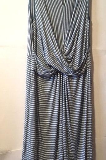 Women's Size 0X 14 16 Petite Stripe Maxi Dress