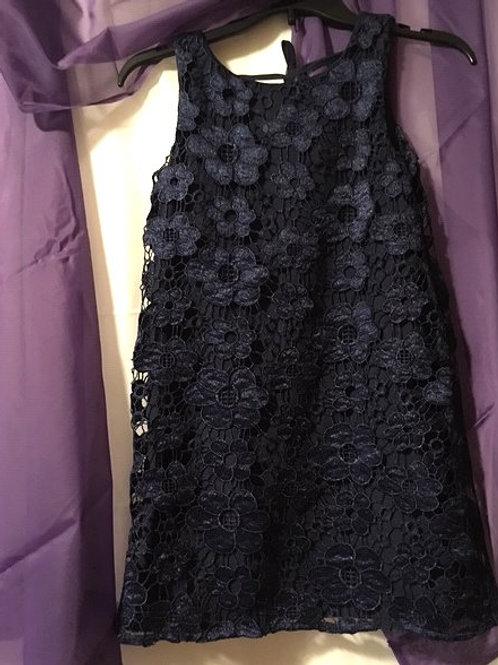 Girls Size Medium 10 - 12 Navy Sleeveless Dress