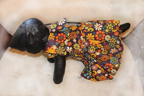 Floral Corduroy Maxi Dress