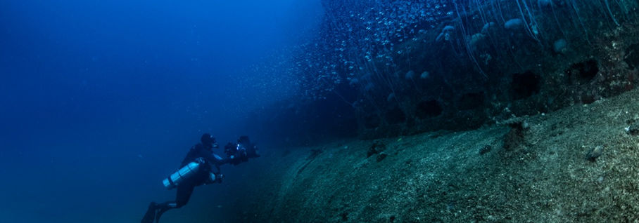 Dyk på ubåtsvrak i Bikiniatollen