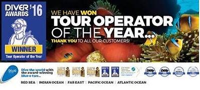 Bästa dykresearrangören 2016, Bäst på dykresor, Diver Awards 2016, Tour Operator of the year 2016, Bäst på Liveaboard, Best Liveaboards