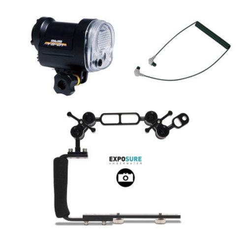 Sea&Sea Kit YS-01 Compact Blixt, arm och fiberkabel