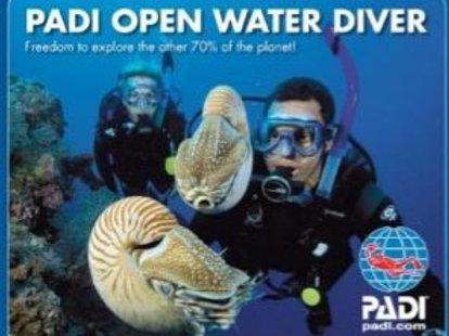 Presentkort Grundkurs PADI Open Water Diver Referral Helg