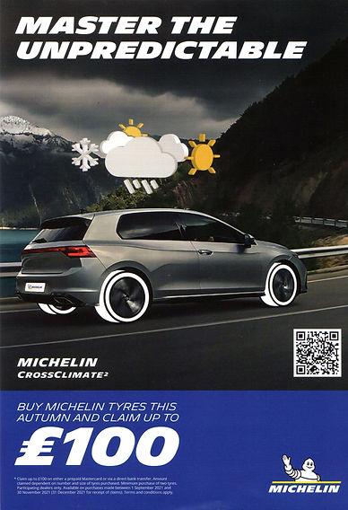 Michelin Cashback Promotion September 2021