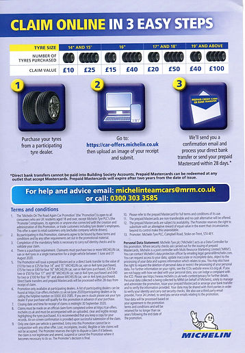 Michelin Tyres promotion 2020 X Spurt Tyres Ipswich