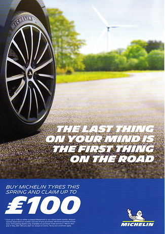 Michelin tyre promotion X Spurt Tyres 01473254596