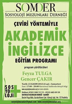 SOMDER Akademik İngilizce Eğitim Program