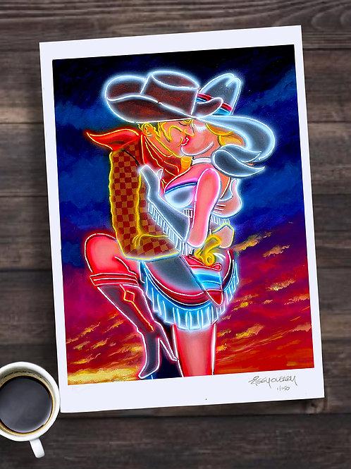 """""""Vegas Kiss"""" 13X19 print"""