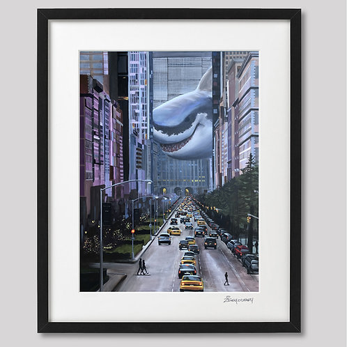 """Like You're From New York"" framed print"
